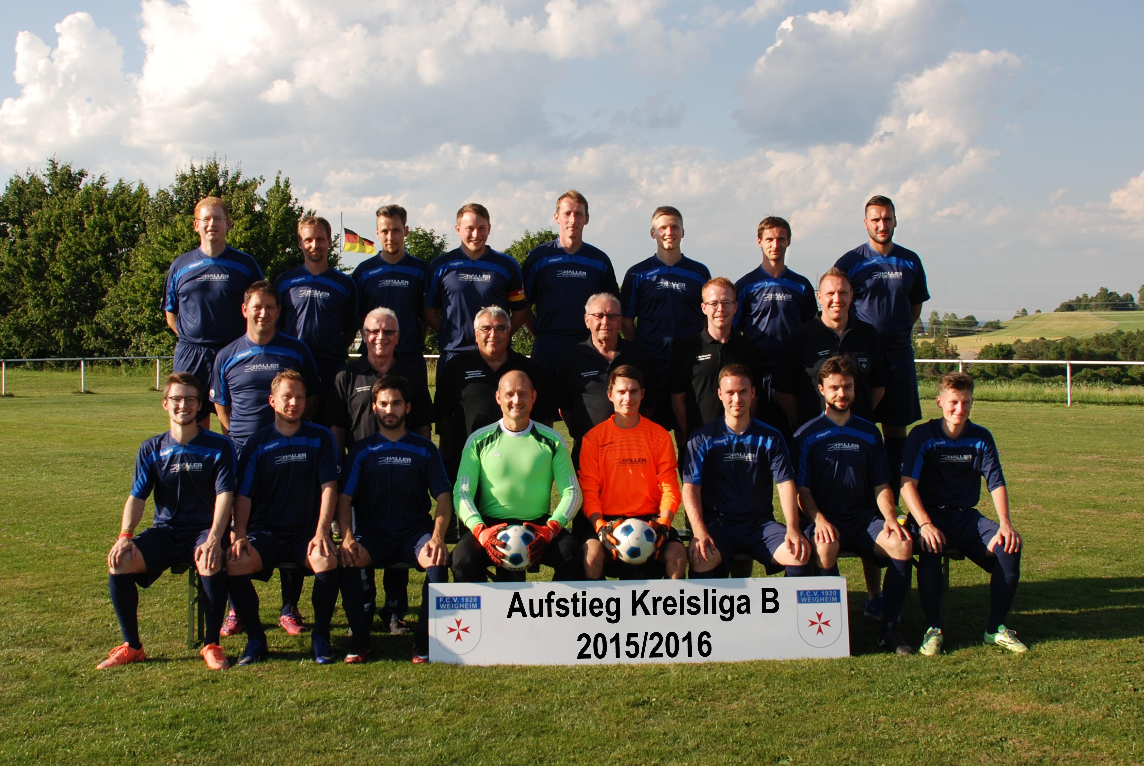 FC Weigheim Aufstieg Kreisliga B